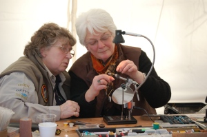 Marion with Wendy Gibson APGAI Fly Dresser