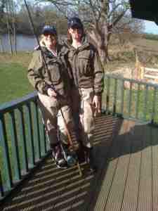 Josie and Sharon, Corbridge Orvis in Orvis ladies waders