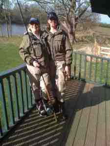 Josie and Sharon, Corbridge Orvis in Orvis ladies waders