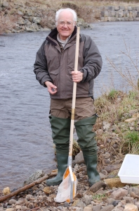 Cliff working on The River Fly Survey