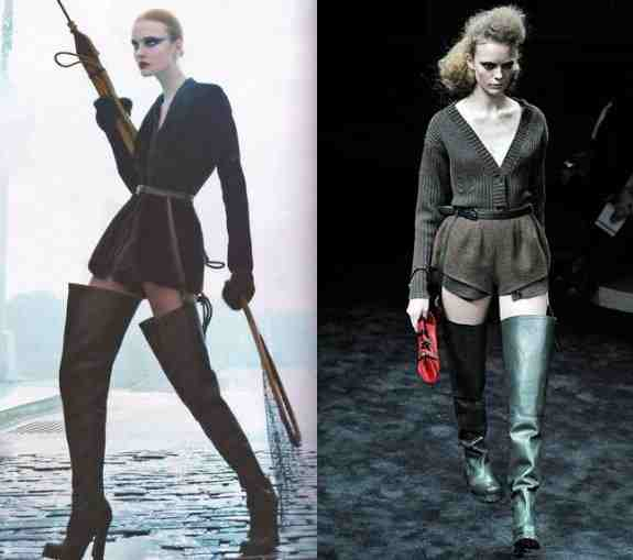 Fly fisher chic with prada and hussein chalayan hip waders for Women s fishing waders