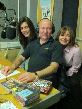 Marta & Anne with DJ Steve McGuire