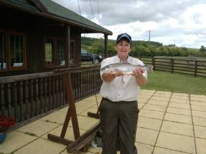 Lesley Johnston at Chatton Trout Fishery