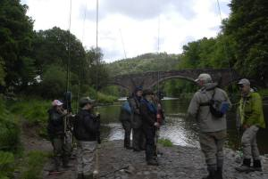 Ladies Fishing Summer Salmon Course River Annan