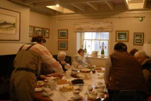 Ladies Fishing enjoying afternoon tea
