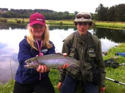 young rod Ella with England Talent Pathway angler Nick