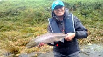 Wearing Patagonia in Spring, Tillmouth, River Tweed
