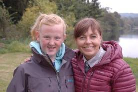 Filming for Discovery Channel with junior angler Ella wearing Patagonia